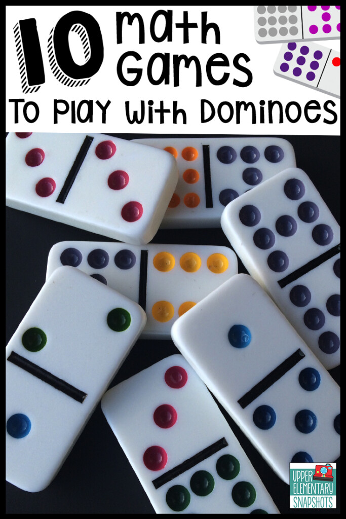 10 Math Games To Play With Dominoes | Upper Elementary Snapshots Throughout Printable Multiplication Dominoes