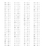 100 Horizontal Addition/subtraction/multiplication Questions Intended For Multiplication Worksheets Horizontal