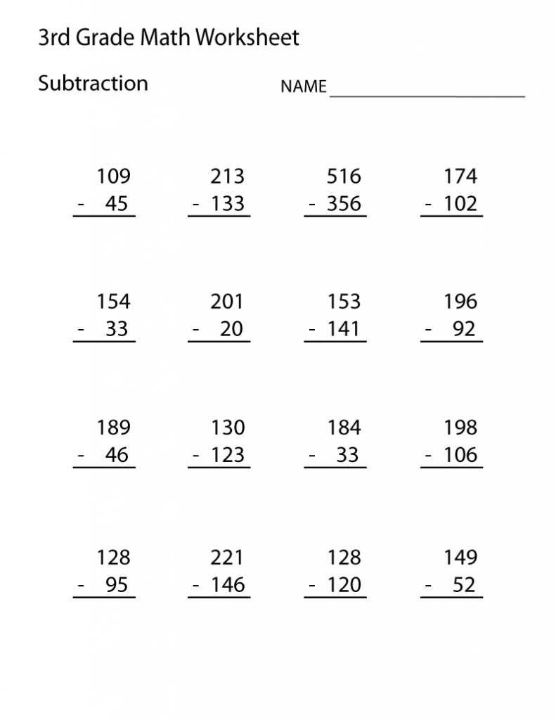 3Rd Grade Math Worksheets | 3Rd Grade Math Worksheets, Math within Multiplication Worksheets 7 Grade