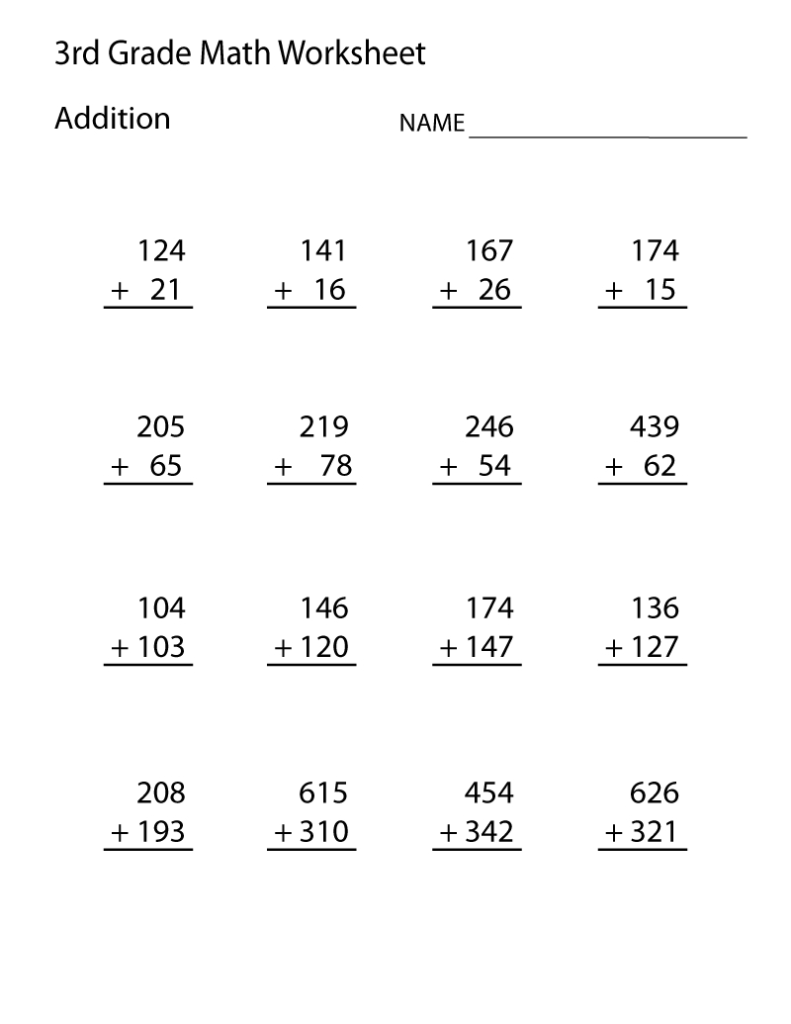 3Rd Grade Math Worksheets   Best Coloring Pages For Kids Inside Printable Multiplication For 3Rd Grade