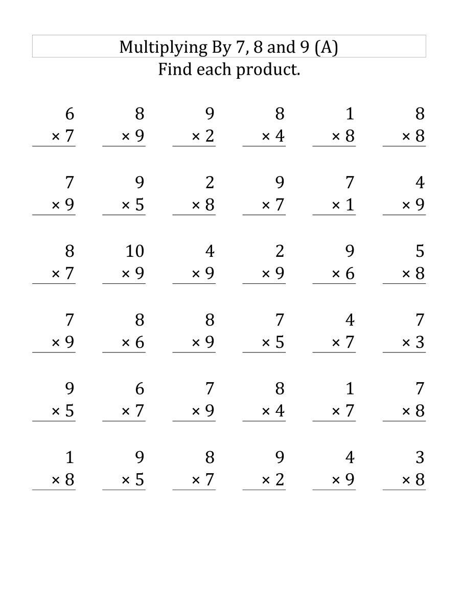 3Rd Grade Multiplication Worksheets - Best Coloring Pages regarding 9 Multiplication Worksheets