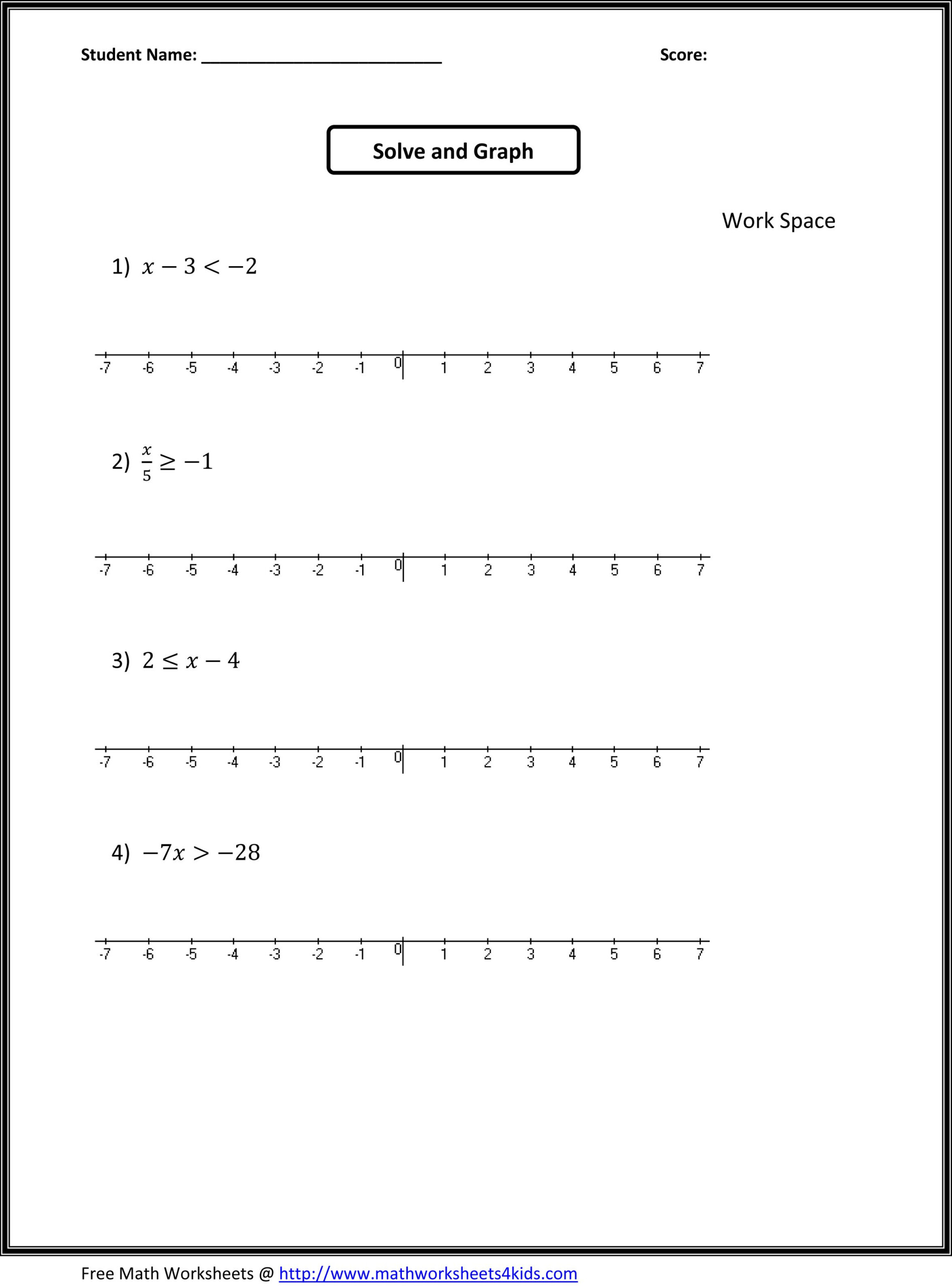 7Th Grade Math Worksheets Algebra - Zelay.wpart.co in Multiplication Worksheets 7 Grade