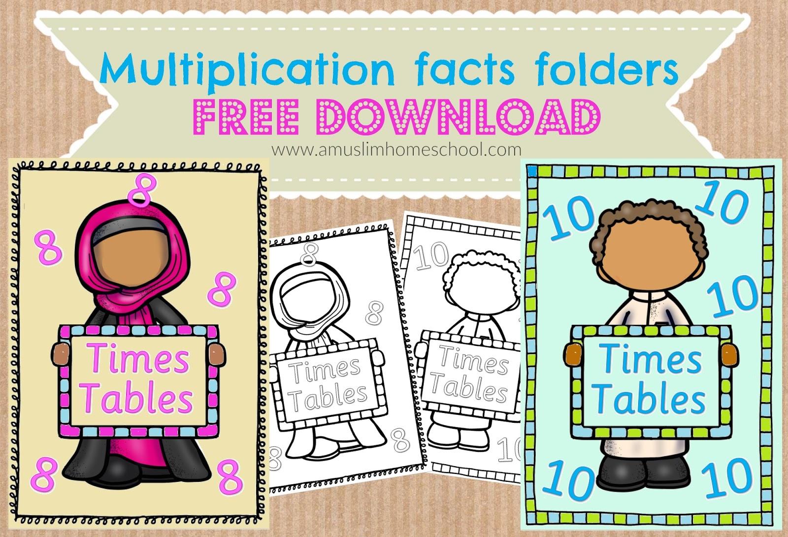 A Muslim Homeschool: Multiplication Fact Foldersmaking regarding Multiplication Lapbook Printable