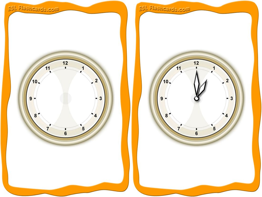 A Printable Set Of Time Flashcards For Teaching Time inside Printable Multiplication Flash Cards 1-15