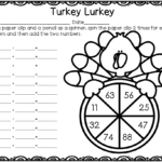 Addition Or Multiplication Turkey Spinners Free Sample Pertaining To Printable Multiplication Turkey