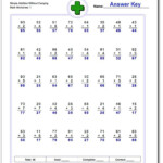 Addition Worksheets: No Carry These Addition Worksheets With Multiplication Worksheets No Carrying