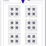 All Operations Logic Puzzles With Missing Values (Small) With Regard To Printable Multiplication Puzzles