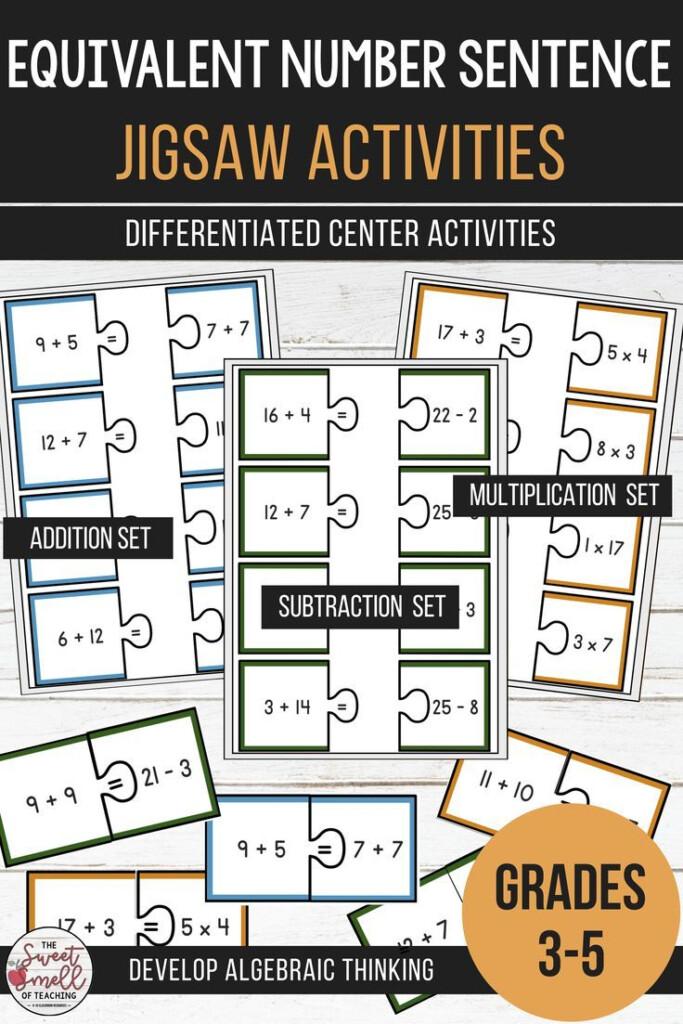 Balance The Equation   Equivalent Number Sentence Jigsaw Inside Multiplication Jigsaw Printable