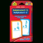 Bilingual Multiplication 0 12 Flash Cards (Multiplicacion 0 12 Tarjetas  Ilustrativas) In Printable Multiplication Cards 0 12