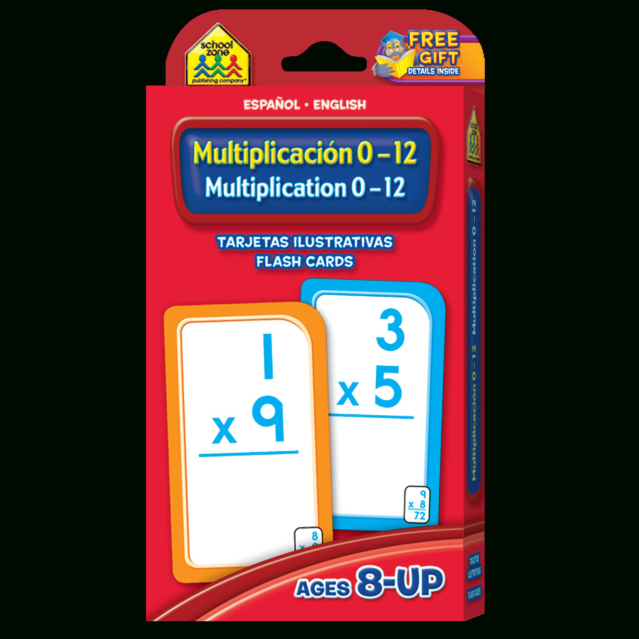 Bilingual Multiplication 0-12 Flash Cards (Multiplicacion 0-12 Tarjetas  Ilustrativas) in Printable Multiplication Cards 0-12