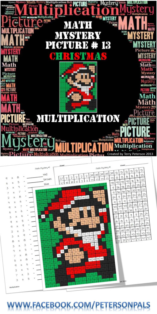 Christmas Math Mystery Picture #13 ~ Multiplication For Free Printable Multiplication Hidden Pictures