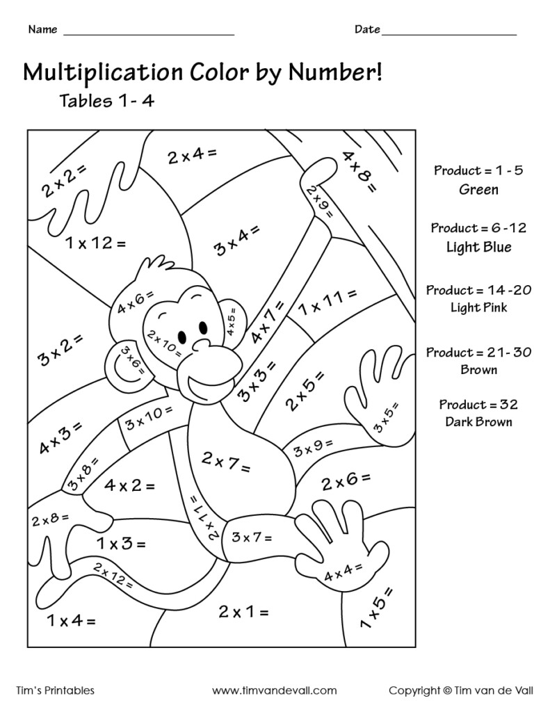 Coloring Book : Colormultiplication Number Tables In Worksheets Multiplication Pdf