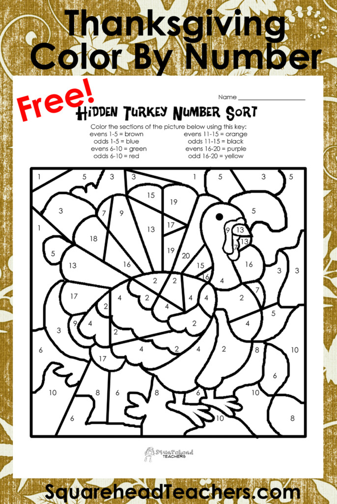 Coloring Pages : Tremendous Thanksgivingornumber Turkey For Printable Multiplication Turkey