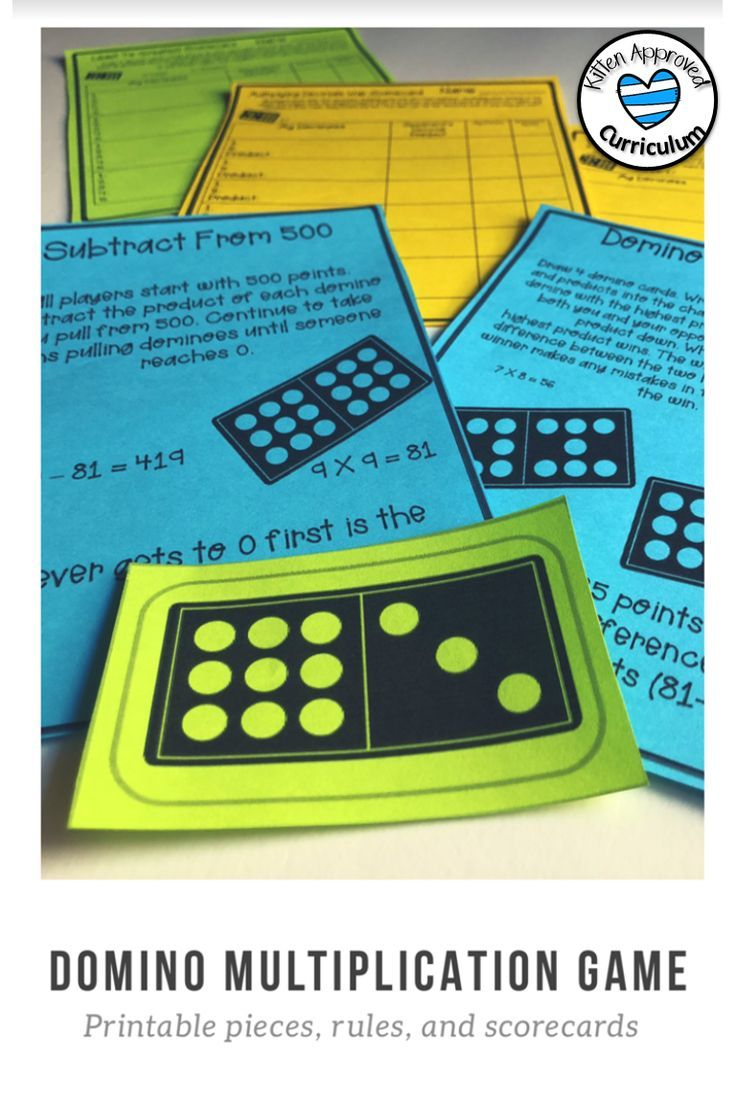 Domino Multiplication Games Printable Dominoes Math in Printable Multiplication Dominoes