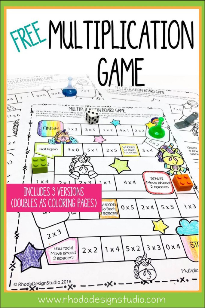 Easy To Use Free Multiplication Game Printables Regarding Printable Multiplication Board Games