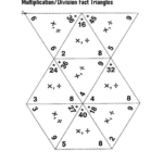 Fact Triangles Worksheet Multiplication And Division Within Printable Multiplication Triangles