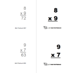 Flashcards (Print Yourself)   Rocket Math Regarding Printable Multiplication Flash Cards