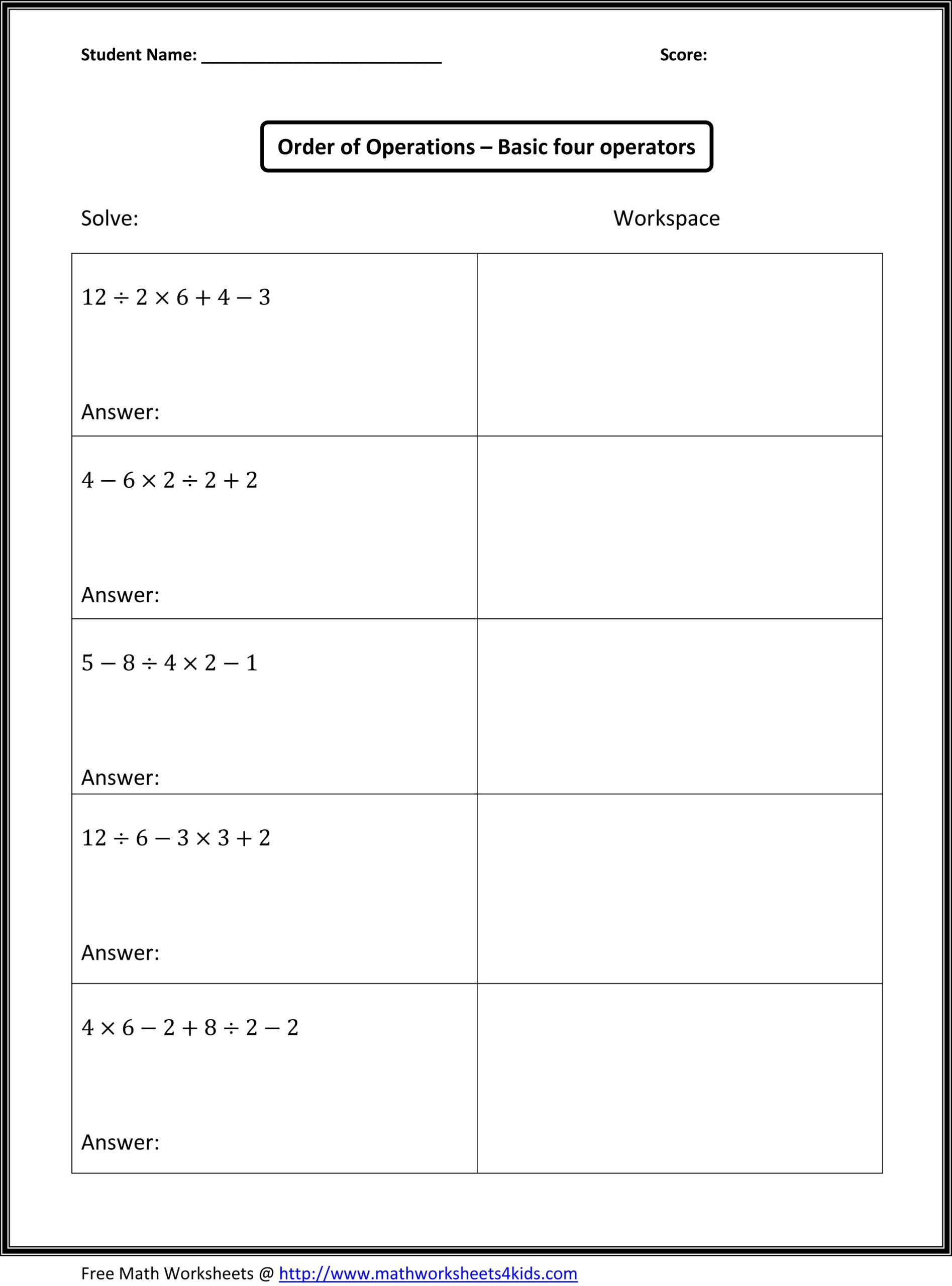 Fourth Grade Beginning Of The Year Math Ideas - Google Search pertaining to Multiplication Worksheets 7Th Grade Pdf