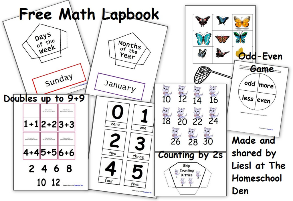 Free Math Lapbook (Prek, K, 1St Grade)   Homeschool With Regard To Multiplication Lapbook Printable