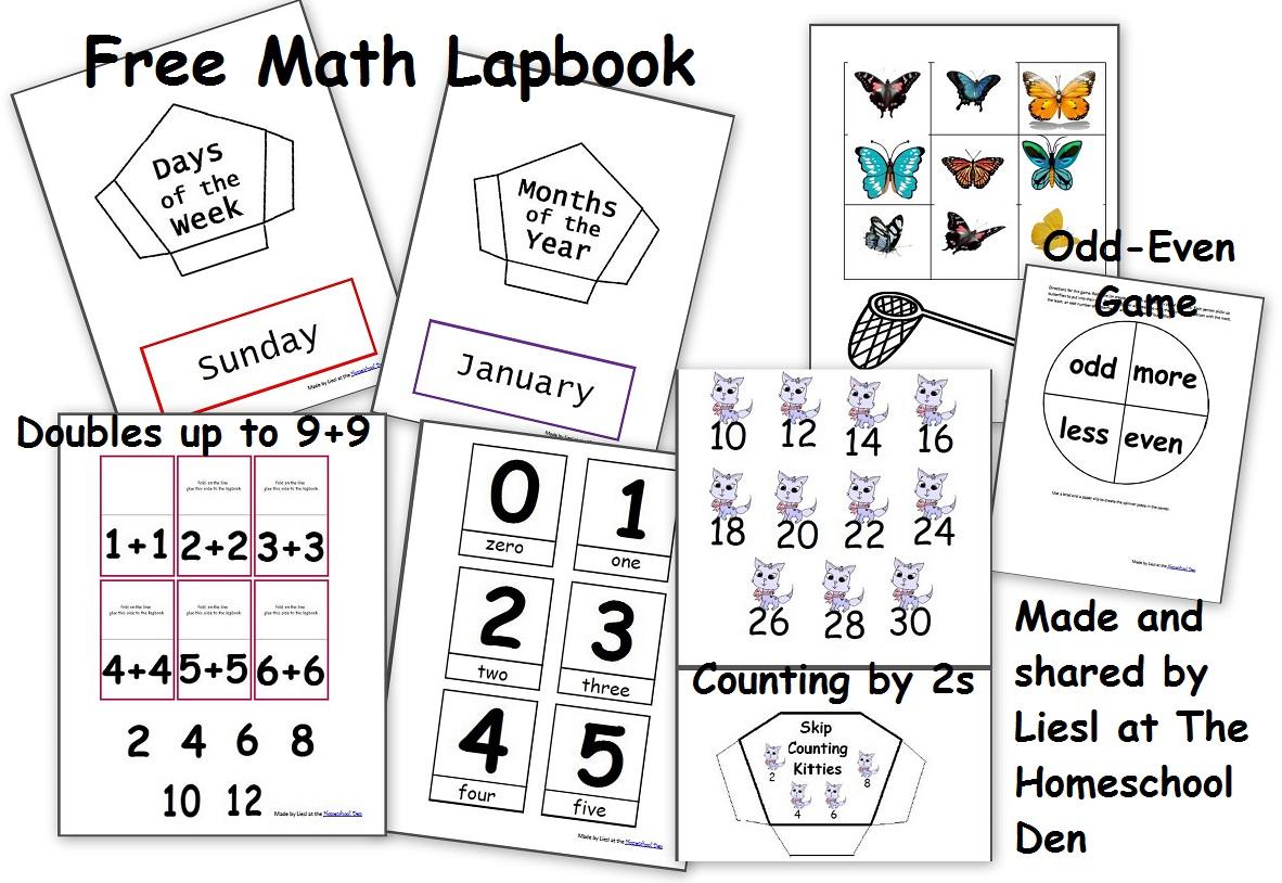 Free Math Lapbook (Prek, K, 1St Grade) - Homeschool with regard to Multiplication Lapbook Printable