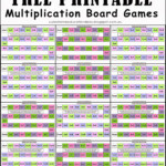 Free Multiplication Board Games | Math Board Games Within Printable Multiplication Activities