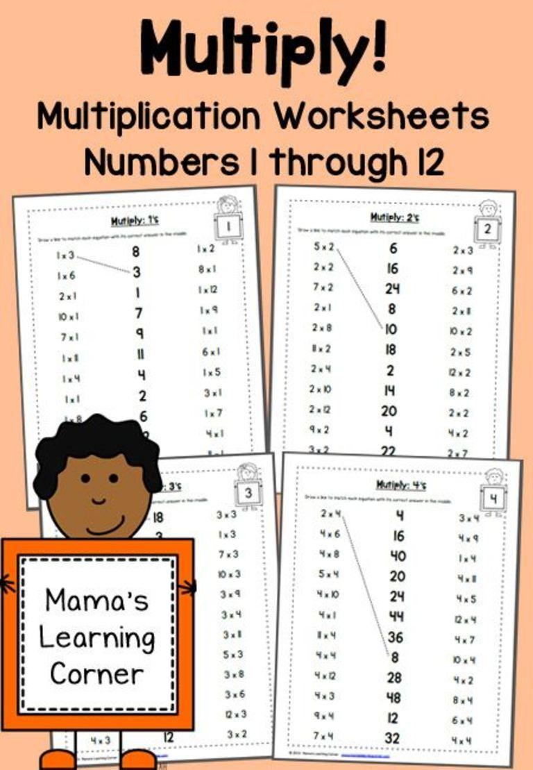 Free* Multiplication Worksheets 1-12 | Multiplication regarding Printable Multiplication Worksheets 1-12