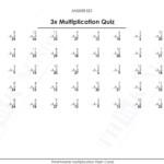 Free Printable 3X Multiplication Quiz Answers | Free In Free Printable Multiplication Quiz