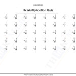 Free Printable 3X Multiplication Quiz Answers | Free Intended For Printable Multiplication Flash Cards 1 15
