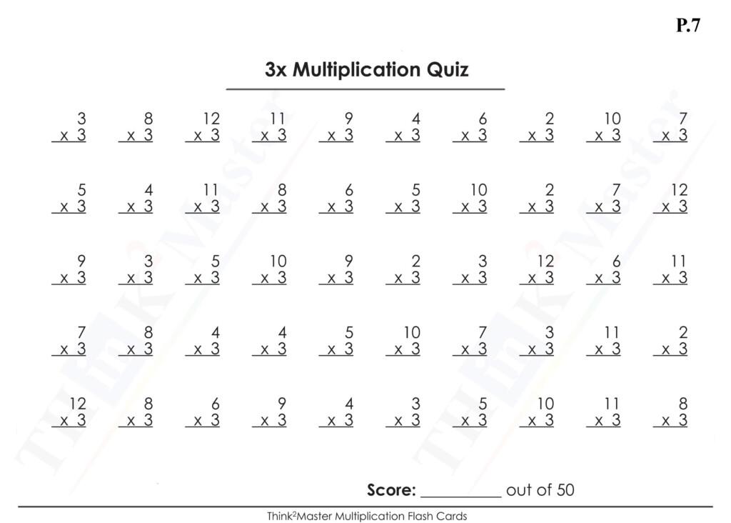Free Printable 3X Multiplication Worksheet | Multiplication Throughout Printable Multiplication Flash Cards 1 15