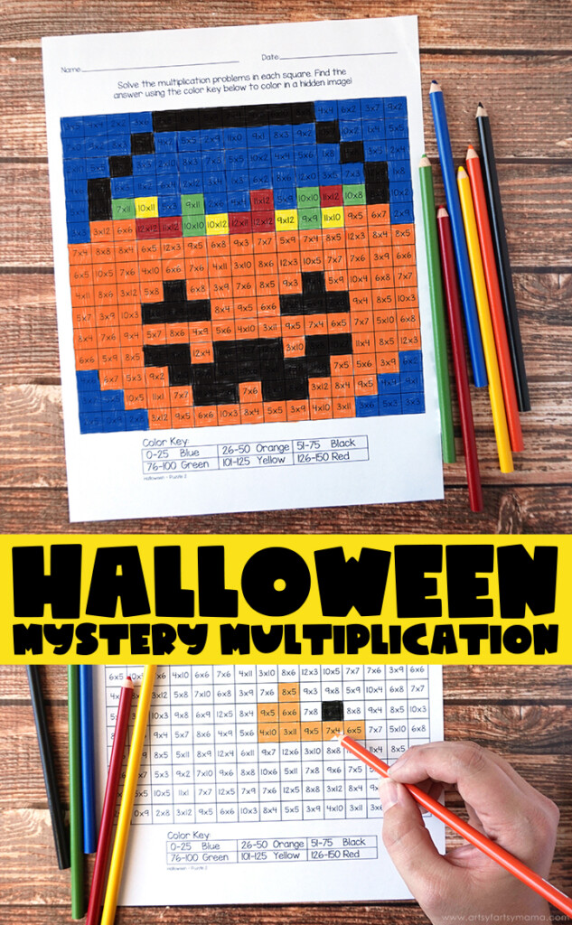 Free Printable Halloween Mystery Multiplication Worksheets In Free Printable Multiplication Hidden Pictures