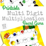 Free Printable Multi Digit Multiplication Board Game | Money Intended For Printable Multiplication Board Games