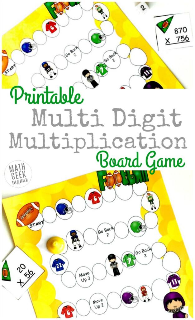 Free Printable Multi Digit Multiplication Board Game | Money Intended For Printable Multiplication Board Games