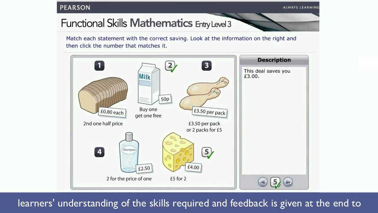 Functional Skills Mathematics Entry Level 3 Demonstration Video within Multiplication Worksheets Entry Level 3