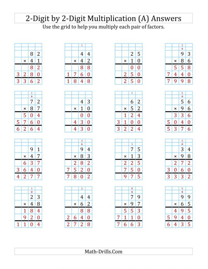 Grid Method Multiplication Using Ks2 Work | Alicanteapaneca within Printable Multiplication Grid Method