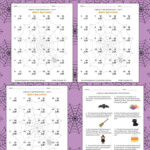 Halloween Math 2 Digit2 Digit Multiplication Worksheets With Multiplication Houses Printable