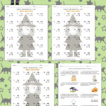 Halloween Math 3 Digit1 Digit Multiplication Worksheets Inside Multiplication Lapbook Printable