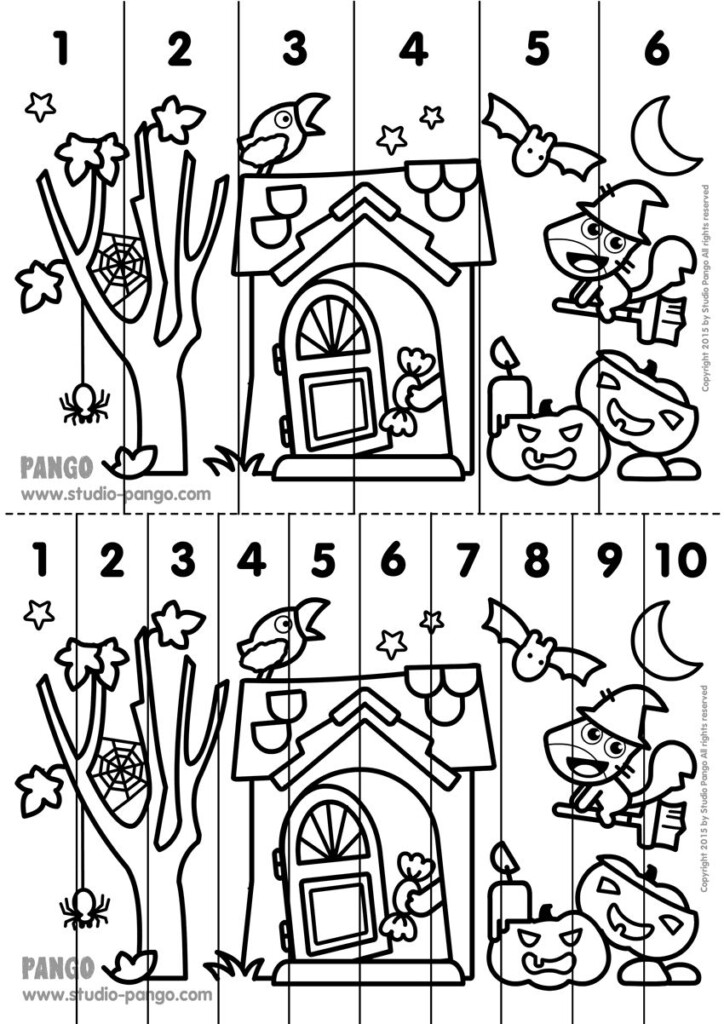 Halloween ! Printable Number Sequence Puzzle. #halloween Regarding Multiplication Jigsaw Printable