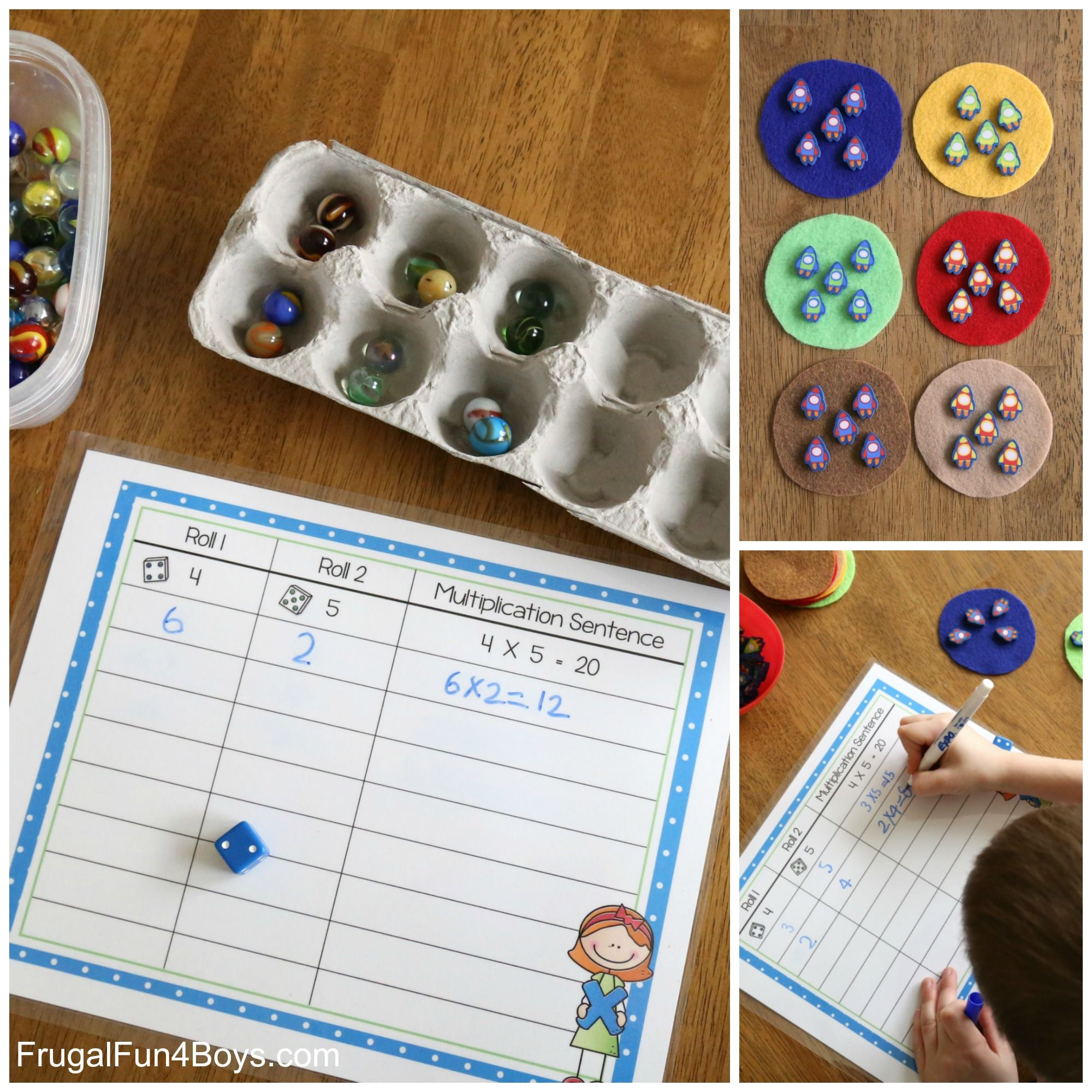 Hands-On Multiplication - Printable Mats | Kids for Printable Multiplication Mats