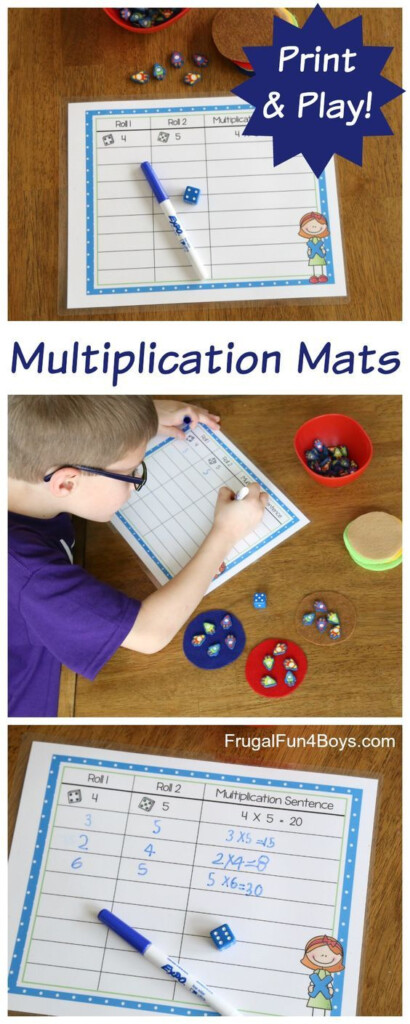 Hands On Multiplication   Printable Mats | Math | Teaching Regarding Printable Multiplication Mats