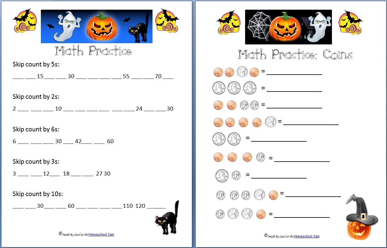 Holiday: Halloween Archives - Homeschool Den regarding Multiplication Worksheets Halloween