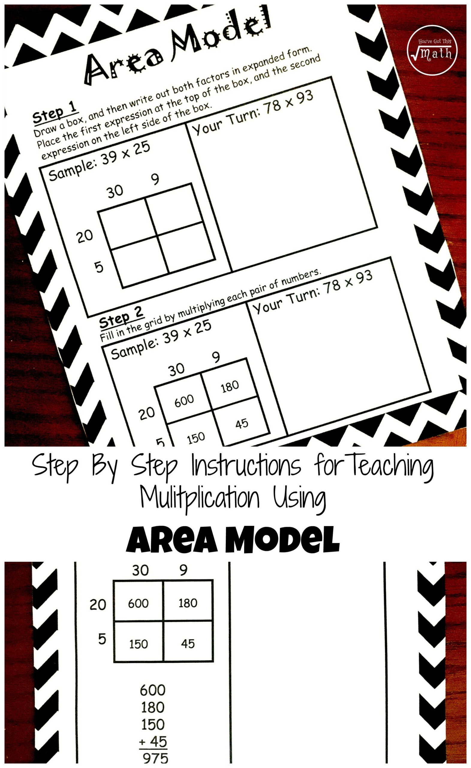 How To Teach Multiplication Using Area Model (Free Printable inside Free Printable Lattice Multiplication Grids