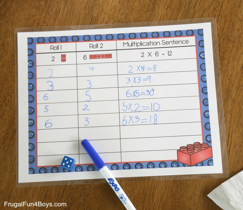 Lego Multiplication Mats! Printable Math Activity - Frugal regarding Printable Multiplication Mats