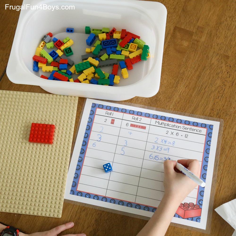 Lego Multiplication Mats! Printable Math Activity - Frugal with regard to Printable Multiplication Mats