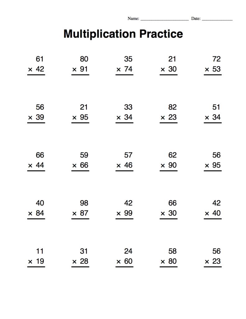 Long Multiplication Worksheets & Multiplication Worksheets For Printable Long Multiplication