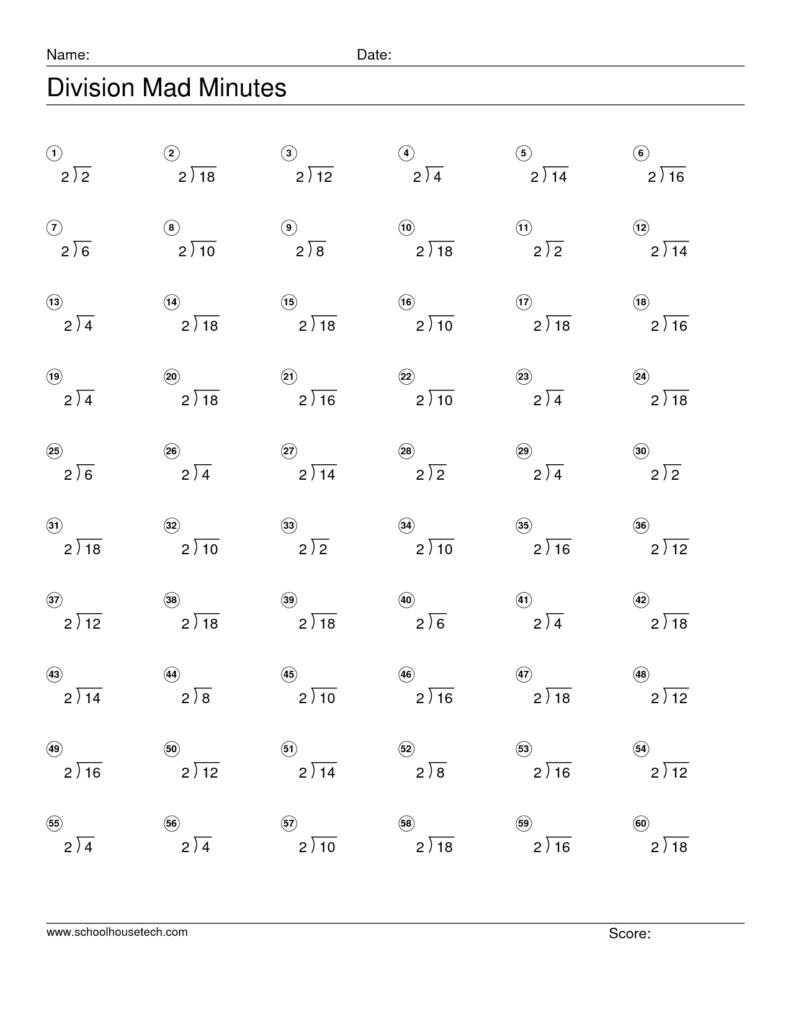 Mad Minutes Multiplication Worksheets Printable Maths In Multiplication Worksheets Mad Minute