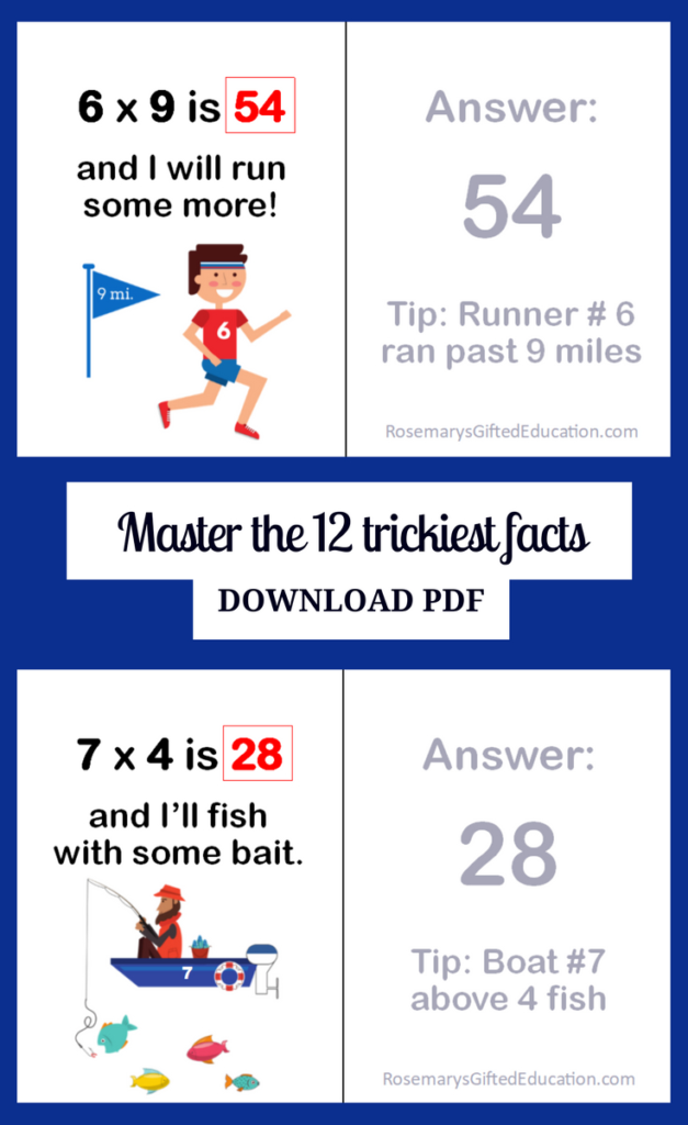 Master The Facts Students Have The Most Trouble Remembering For Free Printable Multiplication Rhymes