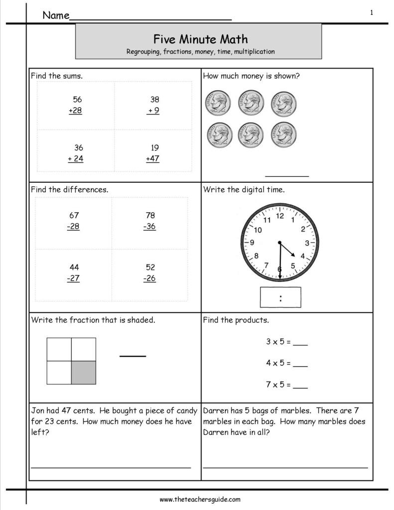 Mental Math Grade 3 Addition Worksheet | Printable Intended For Multiplication Worksheets Entry Level 3