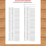 Multiplication 3 Minute Drill H With Answers (10 Sheets)/pdf Pertaining To Multiplication Worksheets Year 3 Pdf
