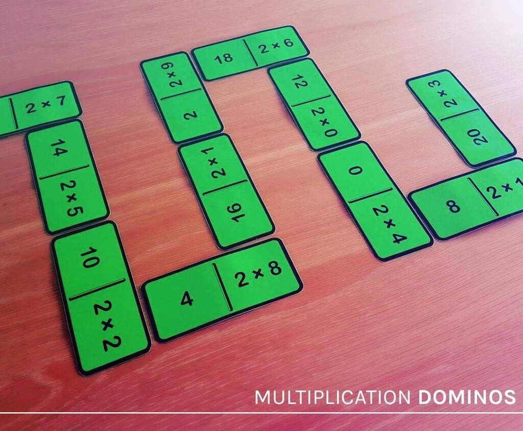 Multiplication And Division Dominos   2, 3, 4, 5, 6, 7, 8, 9 With Regard To Printable Multiplication Dominoes