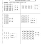 Multiplication Arrays Worksheets Pertaining To Printable Multiplication Array Worksheets